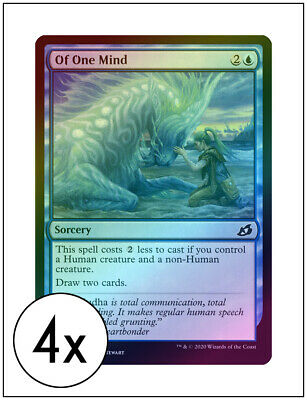 English Ikoria Foil NM-Mint Lair of Behemoths MTG Magic 4x Of One Mind