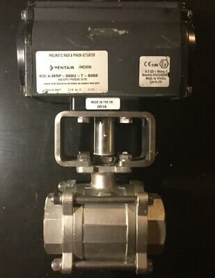 2 Pentair Pneumatic Rack And Pinion Actuator Model Mrp-009u-s080 2 Ball Valve
