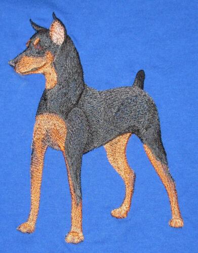 Embroidered Long-Sleeved T-Shirt - Miniature Pinscher C9610 Sizes S - XXL