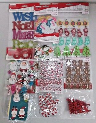 189pc Lot Creatology Kids Christmas Foam Felt Stickers Candy Canes Snowmen Santa