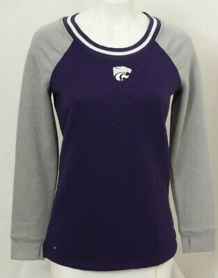 NEW K-State Kansas State Wildcats Antigua MVP Quilted Sweater Women's M