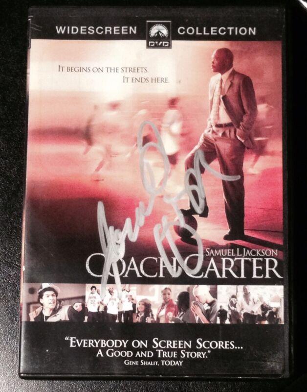 """SAMUEL L. JACKSON SIGNED AUTOGRAPH RARE """"COACH CARTER"""" ORIGINAL DVD MOVIE COA"""