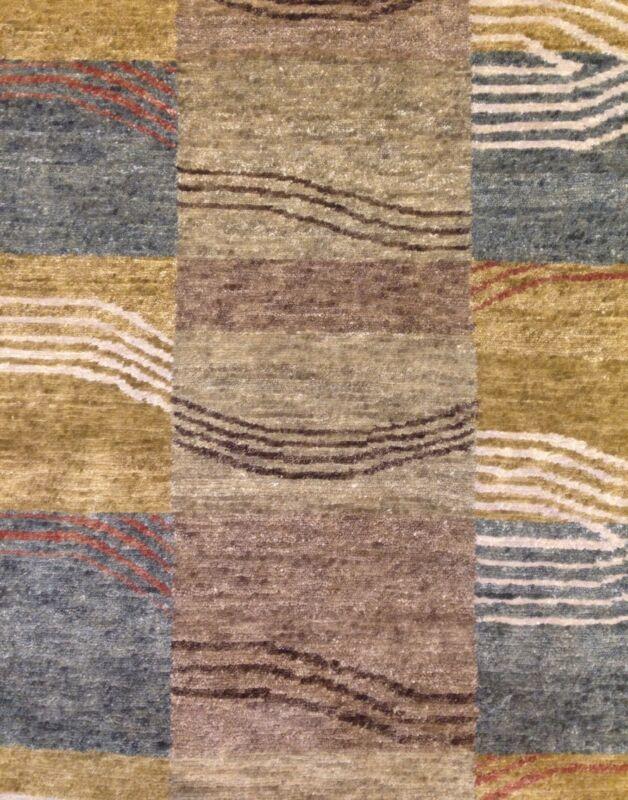 Jovial Jade Green - Kalaty Design Rug - Indian Modern Carpet - 6 X 9 Ft.