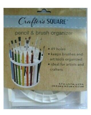 Paint Brush & Pencils Holder Organizer 49 Spots Art Supplies by Crafter's Square