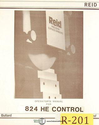 Bullard Reid 824 He Control Surface Grinder Operations And Programming Manual