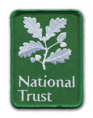 5 x National Trust Embroidered Patch Merrow Border - 100% Donation