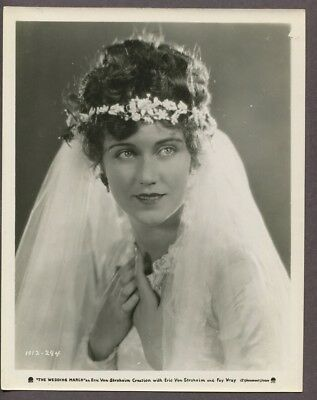 Fay Wray 1928 Film Debut Wedding March Original Erich Von Stronheim Photo J5607