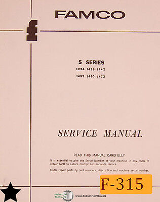 Famco S Series Shear Service Instructions And Parts Manual