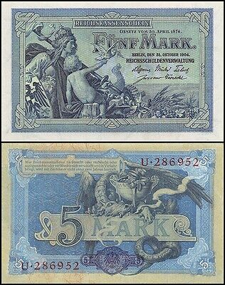 Germany 5 Mark, 1904, P-8a, UNC
