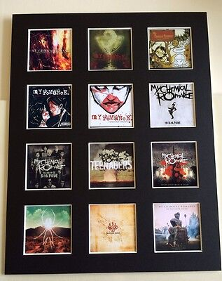 """MY CHEMICAL ROMANCE MCR DISCOGRAPHY PICTURE MOUNTED 14"""" By 11"""" READY TO FRAME"""