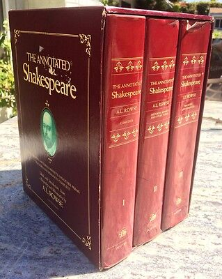 3 Volumes In Slipcase The Annotated Shakespeare Histories Sonnets Poems ROWSE