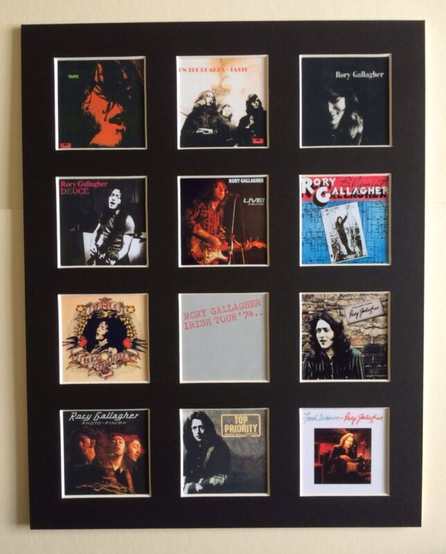 """Rory Gallagher LP Discograaphy Mounted Picture 14"""" by 11"""" Free Postaage"""