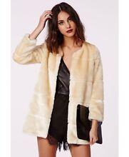 Missguided Pearl Faux Fur Collarless Coat Hurstville Hurstville Area Preview