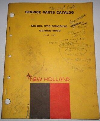 New Holland 975 Combine Series 1968 Parts Catalog Manual Book Nh 468 Original
