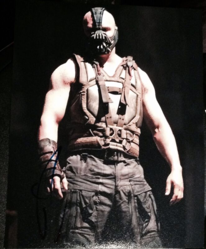 "TOM HARDY SIGNED AUTOGRAPH ""DARK KNIGHT RISES"" BANE VEST POSE PHOTO COA"