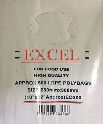 CLEAR PLASTIC LDPE Food Bag 10