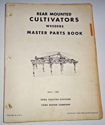Ford Cultivators Weeders Parts Catalog Manual Book Models 10-95 To 13-9