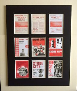 STOKE CITY FC RETRO PROGRAMME PICTURE MOUNTED 14
