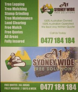 StumpGrinding/tree services //truck and chipper hire/tree loping Bankstown Bankstown Area Preview
