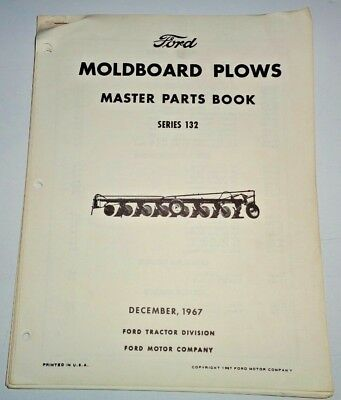 Ford Series 132 Moldboard Plow Master Parts Catalog Manual Book Original 1267