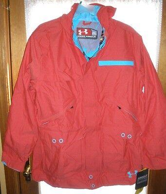 NWT Under Armour MTN STORM Men's Jacket L XXL Snowboard Ski Coat Hooded Coldgear