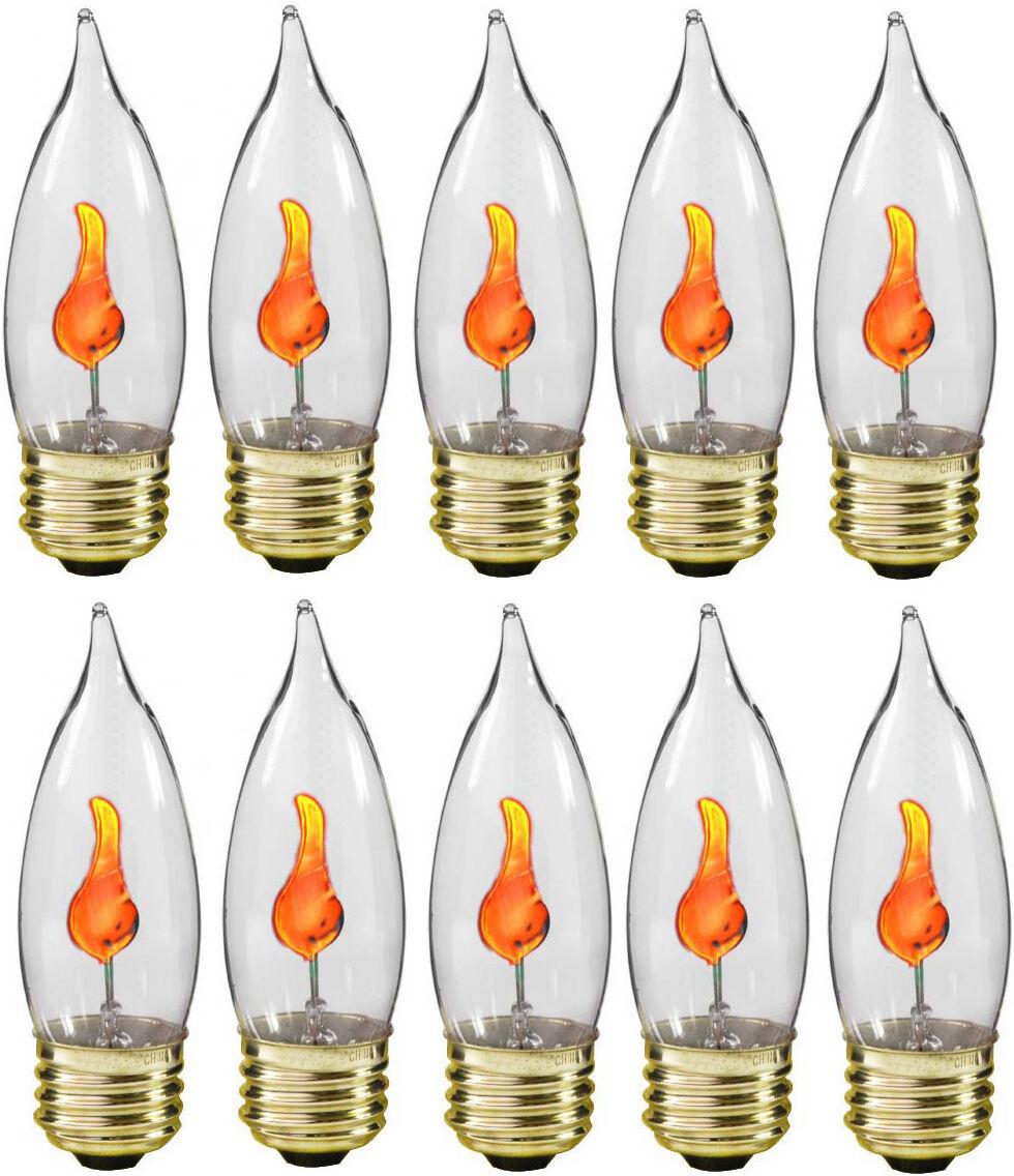 Creative Hobbies® 10J Flicker Flame Light Bulb-Flame Shaped, Stdard Base-10 bulb Home & Garden