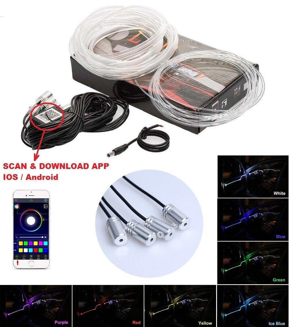 RGB Leiste Ambientebeleuchtung 12V Bluetooth APP-Steuerung 6 Meter mit 4 Modulen