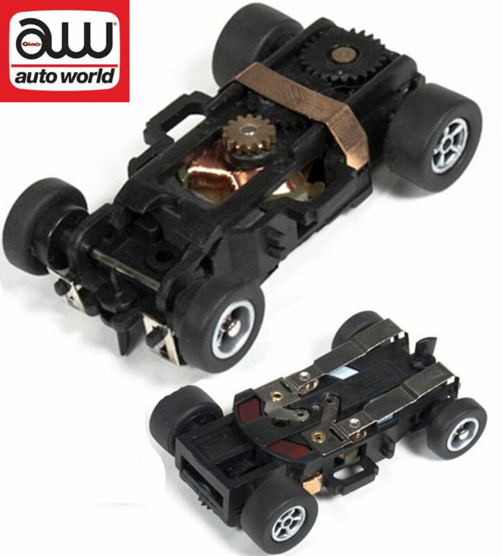 Autoworld Complete Xtraction Rolling Chassis Ho Scale Slot Car AW X-Traction