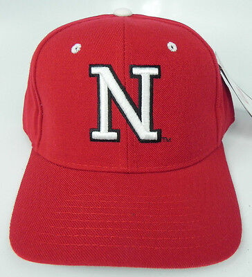 Zephyr Nebraska Cornhuskers Fitted Hat - NEBRASKA CORNHUSKERS RED NCAA VINTAGE FITTED SIZED ZEPHYR DH CAP HAT NWT!