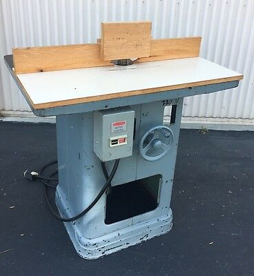 Heavy Duty Deltarockwell Shaper 220v 3 Phase Woodworking Machinery