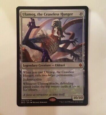magic the gathering umalog, the ceaseless hunger legendary eldrazi 10/10