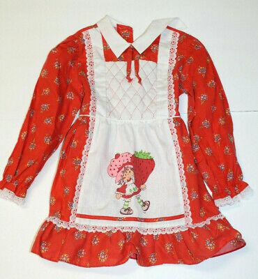 80s Dresses   Casual to Party Dresses Vintage Strawberry Shortcake Toddler Dress Adorable! Rare! 1980s $47.89 AT vintagedancer.com