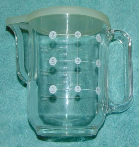 Frigoverre Glass Measuring Pitcher Batter Mixer 3 Cup with Lid