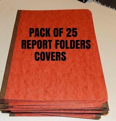 Lot Of 25 Pressboard Report Folder Cover Binders Redbrown Home School Office