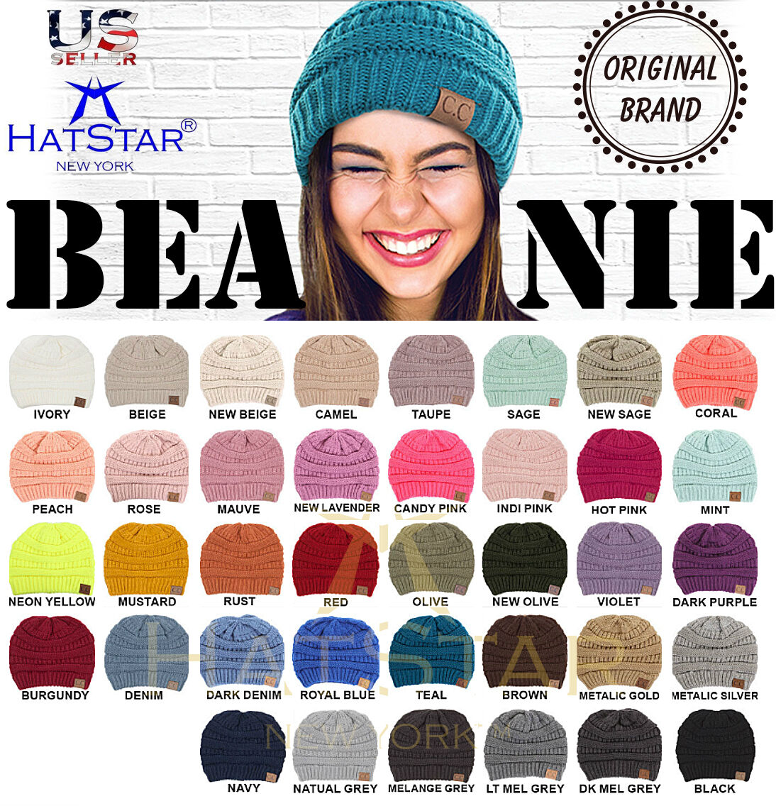 CC C.C Beanie New Women Slouchy Knit Oversized Thick Cap Hat