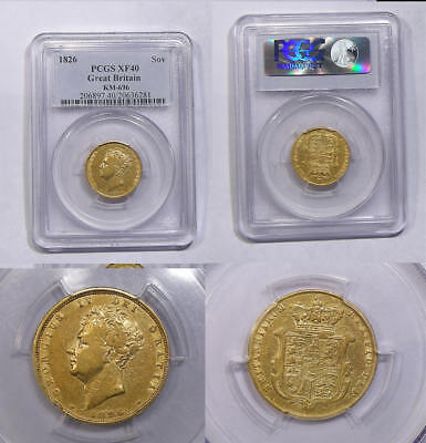1826 BRITISH GOLD SOVEREIGN PCGS XF40 INV#347B-14