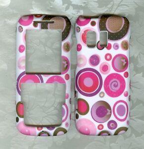 rubberized-pink-polka-dot-Samsung-SCH-R451c-Straight-Talk-net10-Phone-Cover-case