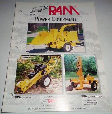 Ram Power Equipment Brush Chipper Stumper Stump Grinder Log Splitter Brochure