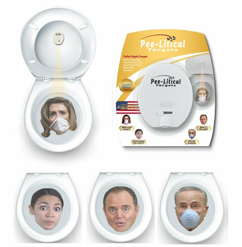 Pee-Litical Targets Toilet Light Projector (Pelosi, AOC, Schiff, Schumer)