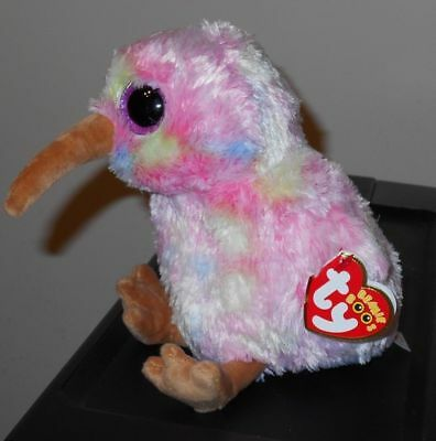 """Ty Beanie Boos - KIWI the 6"""" Pink Bird ~ 2018 NEW with MINT TAGS ~ IN HAND"""