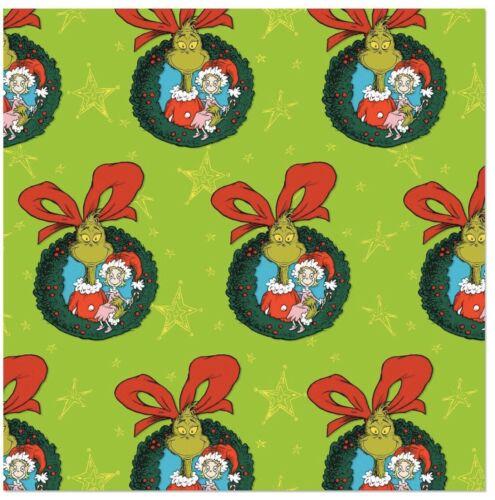 Hallmark Dr Seuss Grinch Green Jumbo Roll Christmas Wrapping
