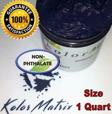 Gen Opaque Premium Navy Plastisol Screenprint Ink - Non Phthalate Quart