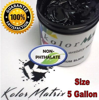 Gen Premium Black Premium Plastisol Screenprint Ink - Non Phthalate 5 Gallon