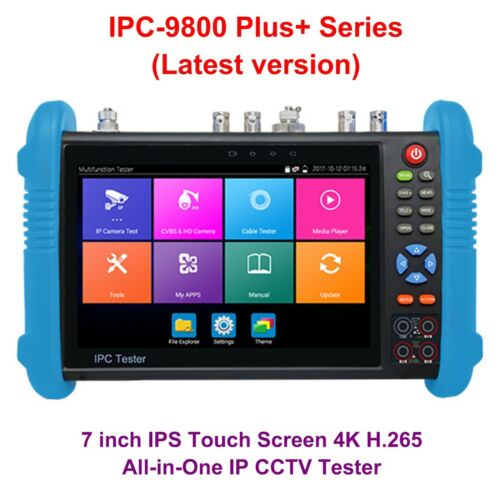 "4K IP CCTV Tester IPC-9800 Plus+ Series 7"" Monitor H.265 TVI CVI AHD CVBS Analog"