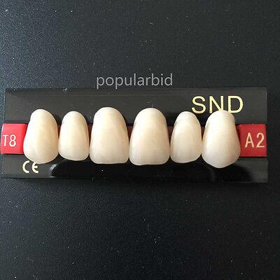 Dental Acrylic Teeth Synthetic Resin A2-t8 Upper Anterior False Denture