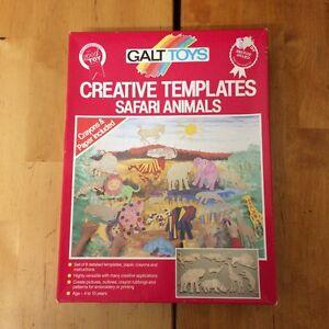 GALT TOYS Safari Animals Creative TEMPLATES-Elephant-Lion-Zebra++++ Cloverdale Belmont Area Preview