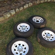 Sunraysia 14 inch 6 stud rims x 4 with LT tyres East Maitland Maitland Area Preview