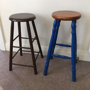 2 x wooden bar stools Wentworth Falls Blue Mountains Preview