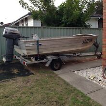 (SWAPS) 13ft tinny 25hp Yamaha on trailer Charlestown Lake Macquarie Area Preview