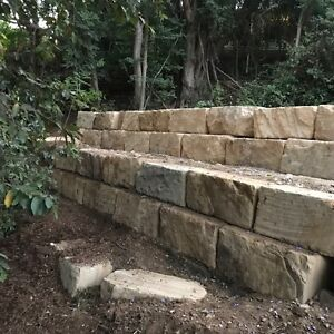 Sandstone retaining wall builders Greenbank Logan Area Preview